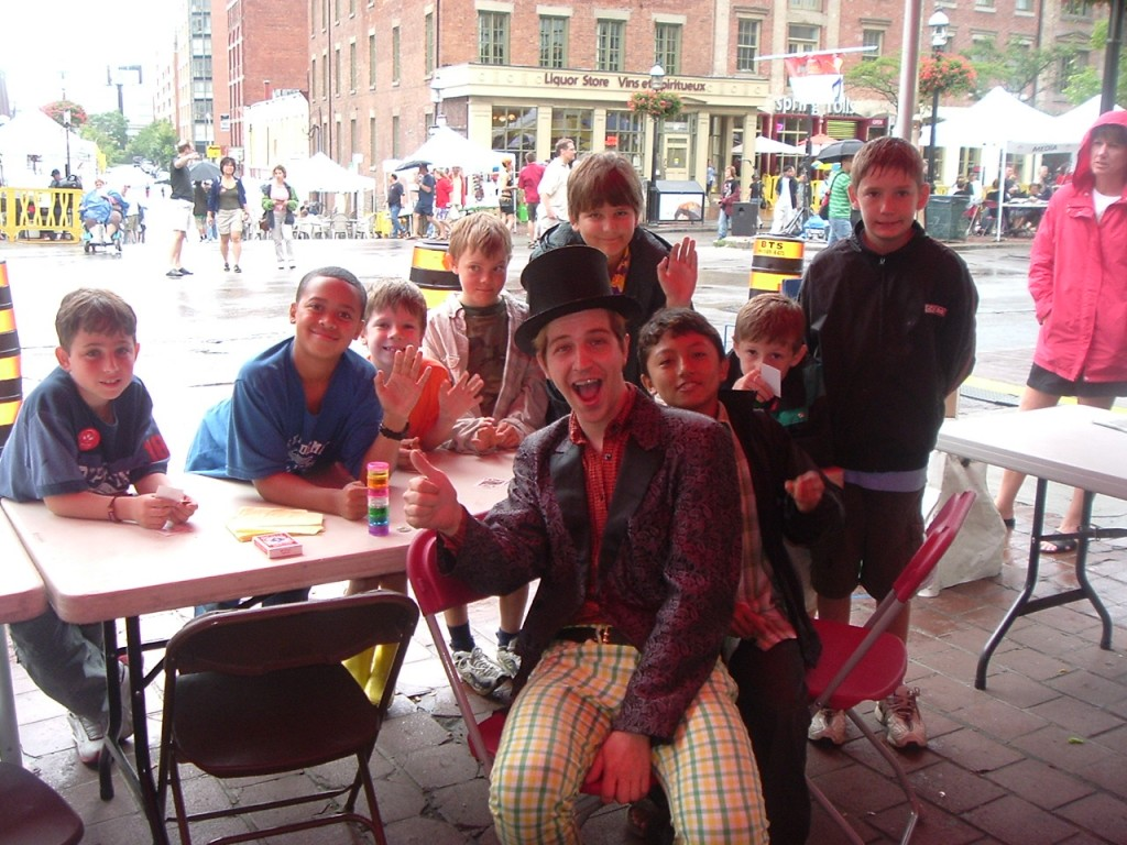 Toronto Dylan Studebaker the punk magician teaching magic at local festival