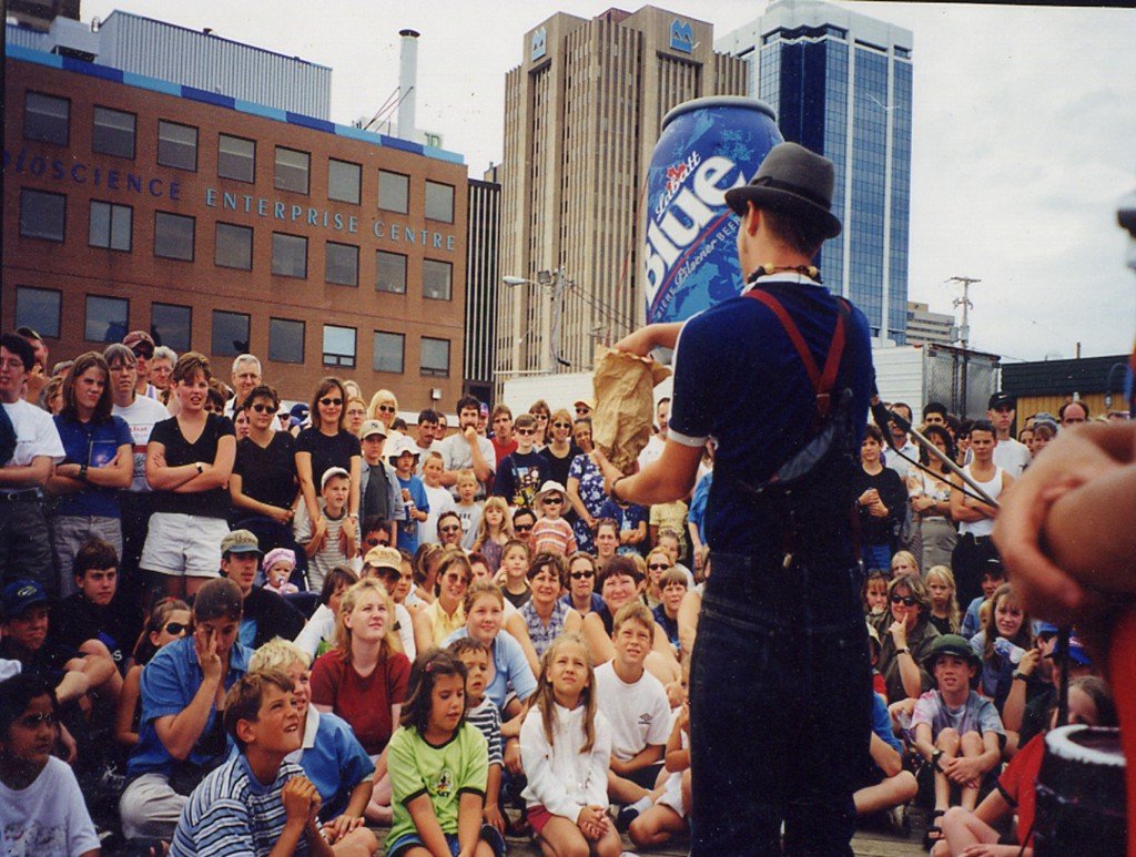 Toronto Dylan Studebaker the punk magician at Halifax busker festival
