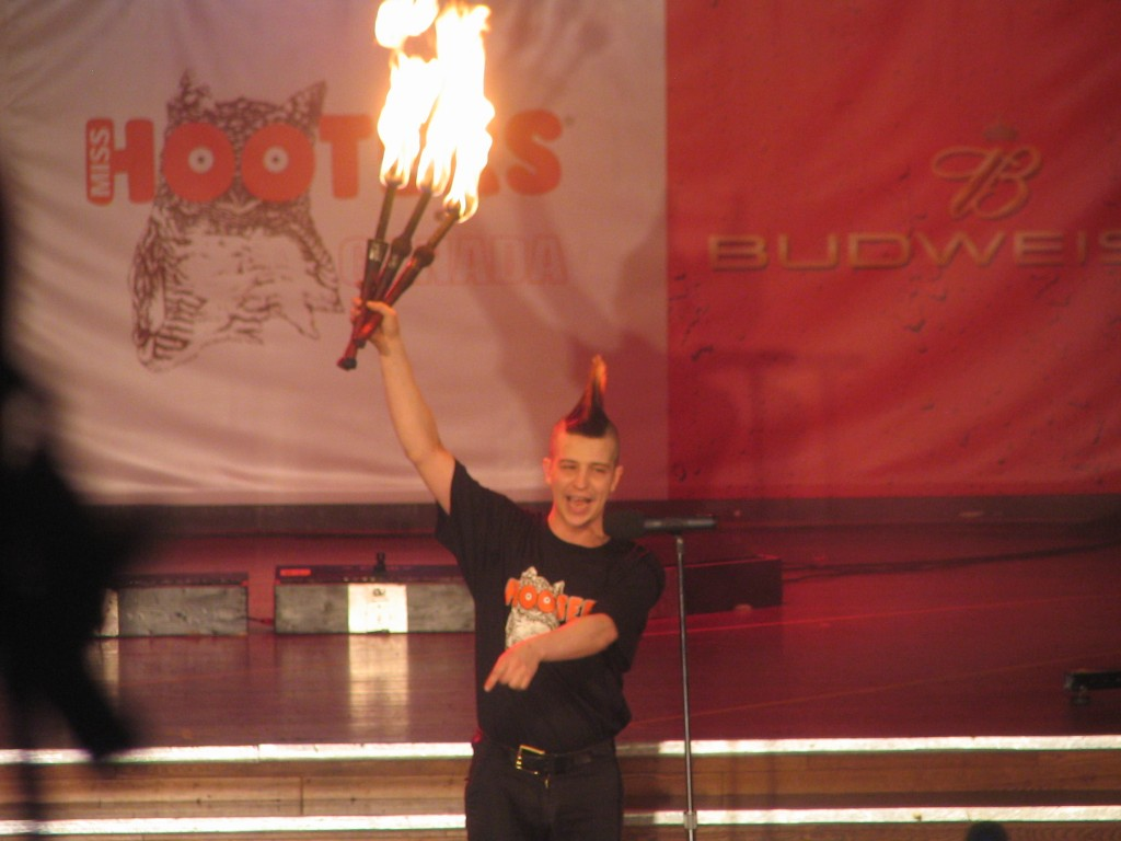 Corporate magic show with fire