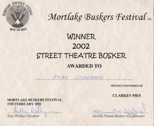 Busker award Australia